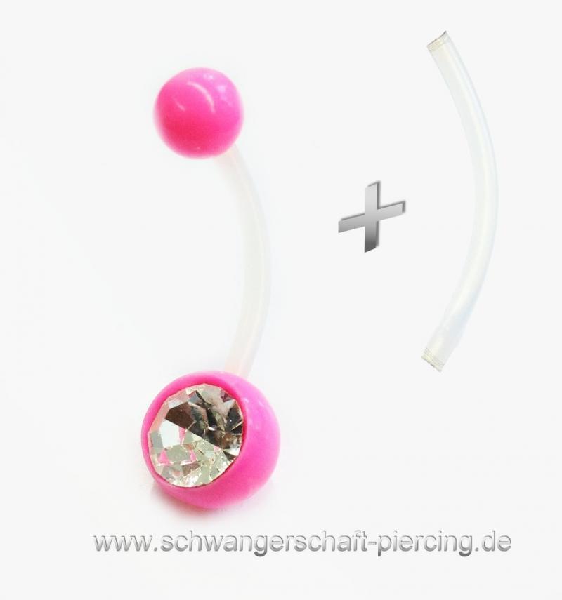 Pink Line Schwangerschaftspiercing