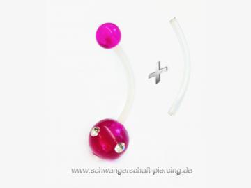 Purple Stone Schwangerschaftspiercing