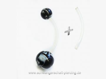 Deluxe Black Rose Schwangerschaftspiercing