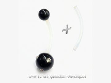 Black Stone Schwangerschaftspiercing