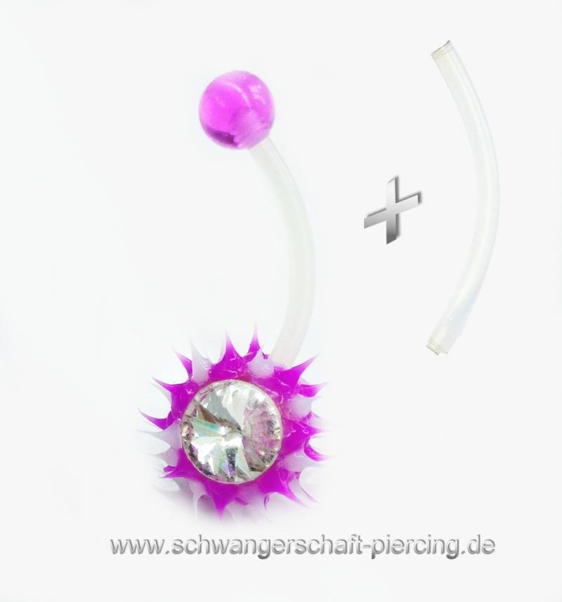 Spiky Pink Schwangerschaftspircing