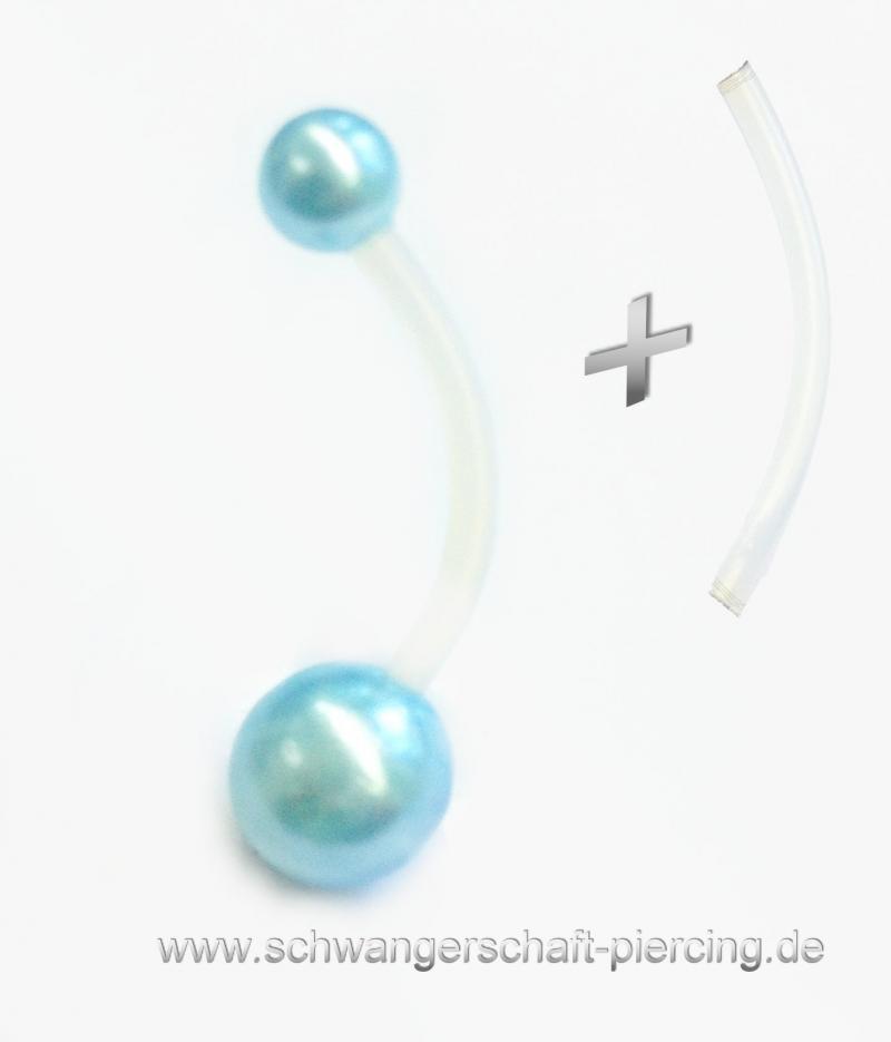 Perle Aqua Schwangerschaftspiercing