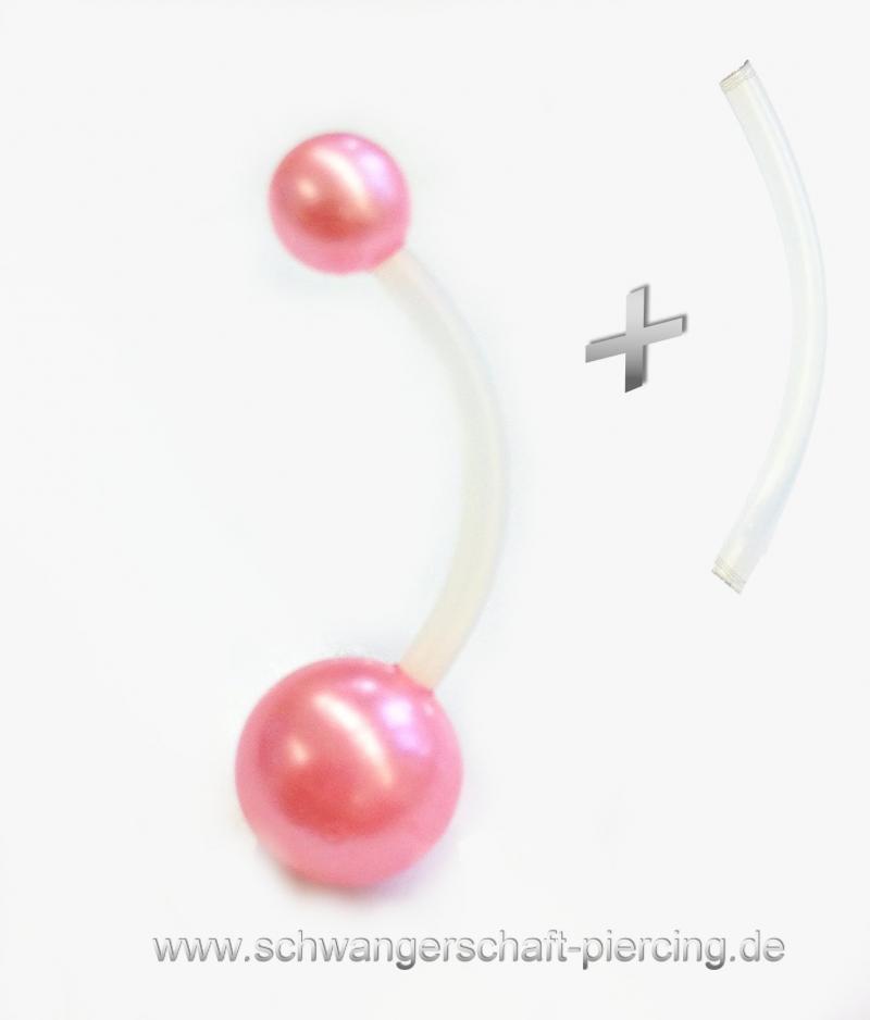 Perle Rose´ Schwangerschaftspiercing