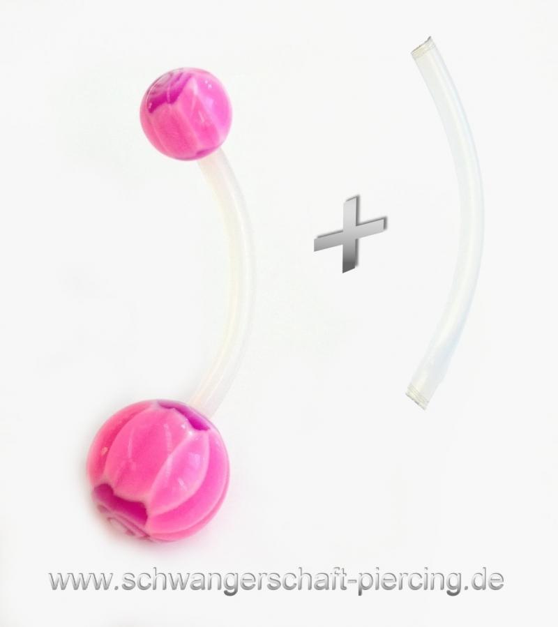 Purple Rose Schwangerschaftspiercing