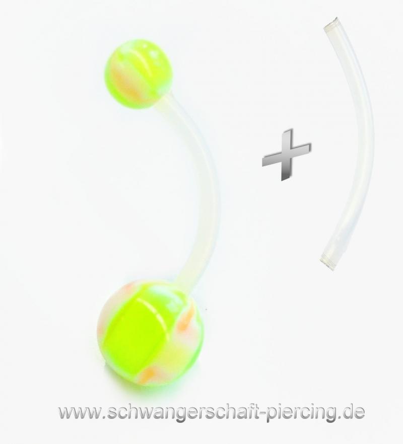 Green Rose Schwangerschaftspiercing