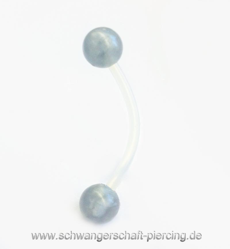 Classic Grau Schwangerschaftspiercing
