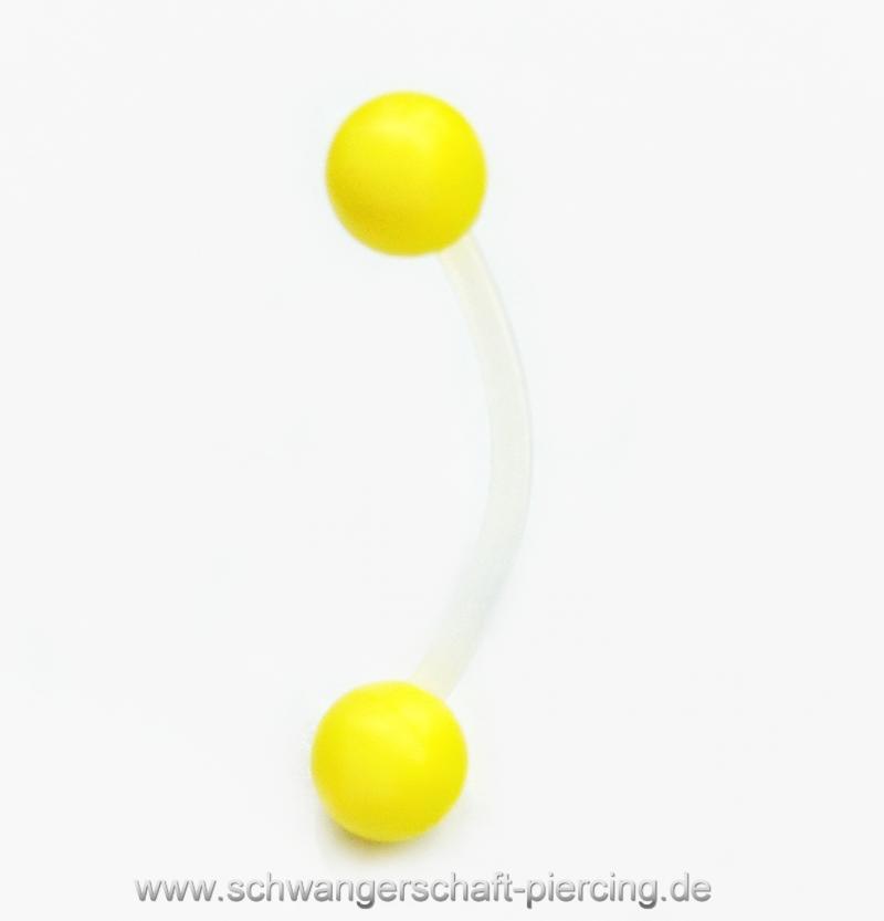 Classic Gelb Schwangerschaftspiercing