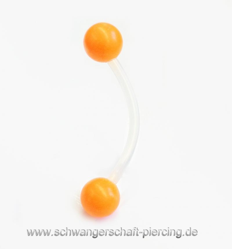 Classic Orange Schwangerschaftspiercing