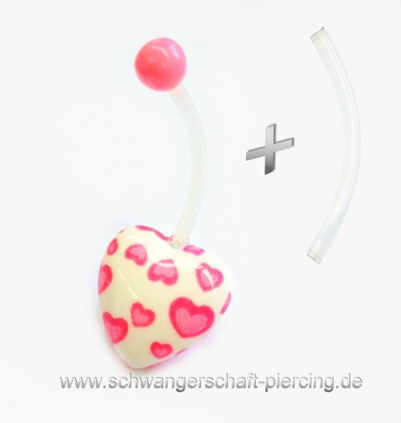Herz Rosa Schwangerschaftspiercing