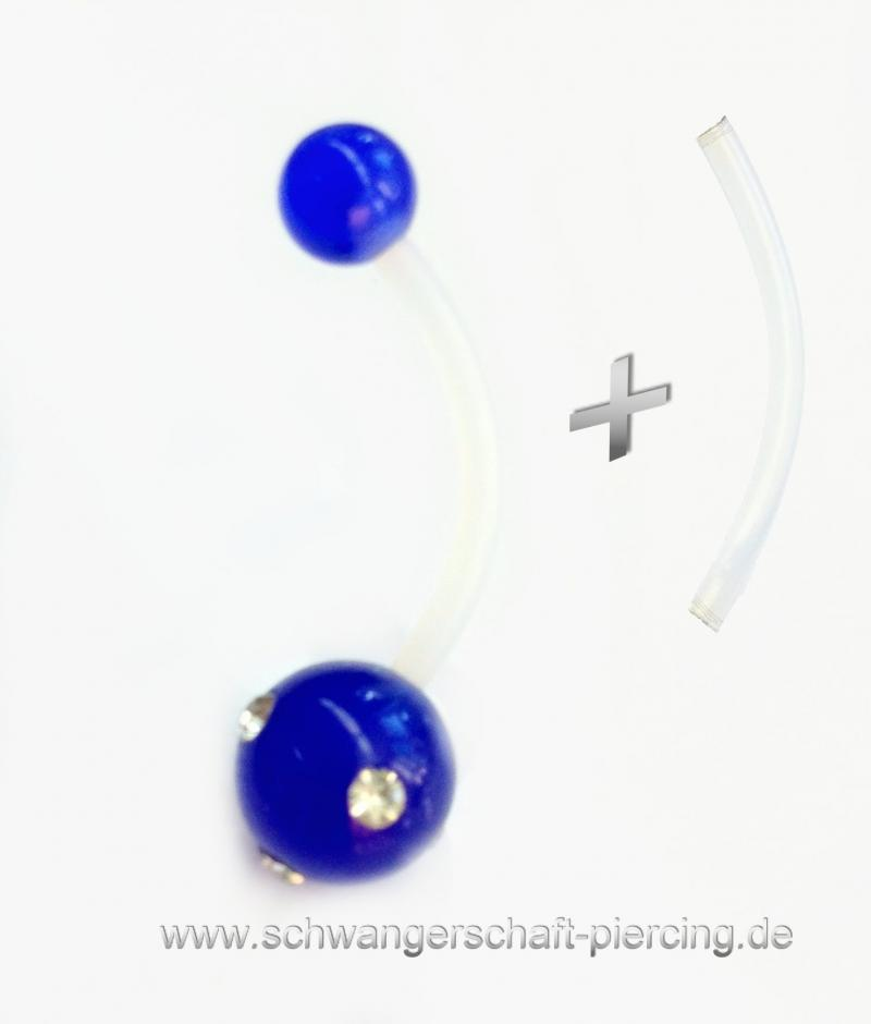Blue Stone Schwangerschaftspiercing