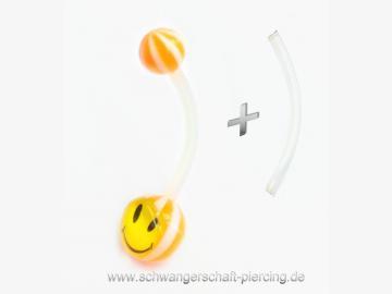 Smilie Schwangerschaftspiercing